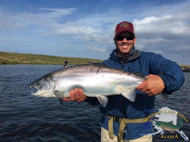 Experience alaska 39 s reel smokin silver salmon wildman for Alaska sport fishing